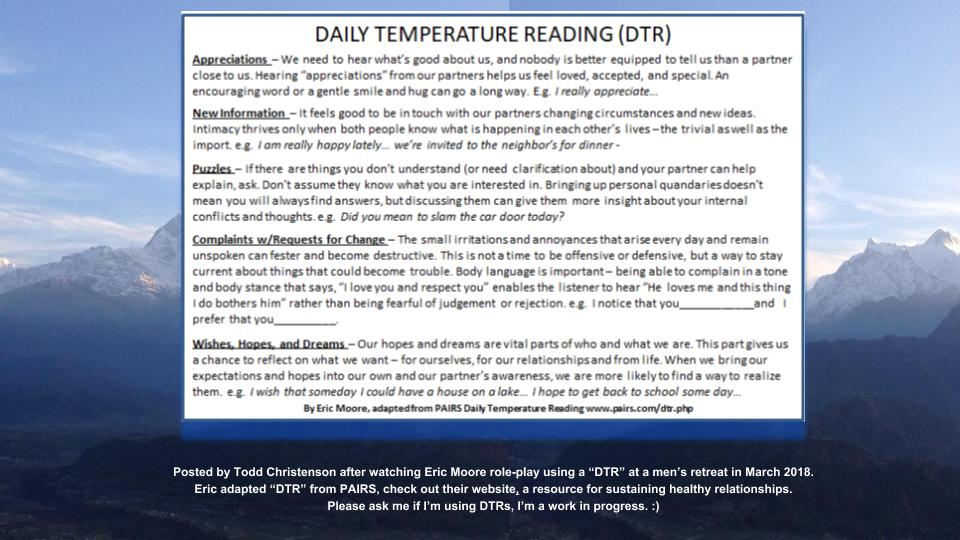 Daily Temperature Reading (DTR) by Eric Moore, adapted from PAIRS